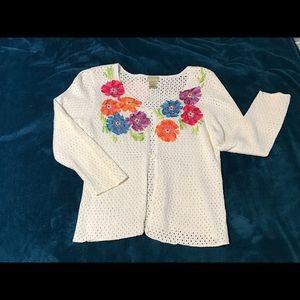 Sigrid Olsen Sport button sweater